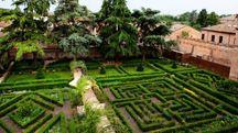 Il giardino del palazzo di Ludovico Il Moro a Ferrara