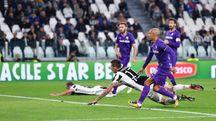 Juve-Fiorentina, il gol di Mandzukic per l'1-0