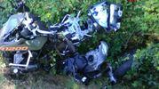 La moto distrutta