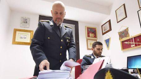 I militari della Guardia di Finanza al lavoro