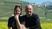 Oscar e Marinella Minelli sulla Piana di Castelluccio