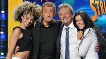 Mikaela Neaze Silva, Ezio Greggio, Enzo Iacchetti e Shaila Gatta (Newpress)