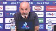Pioli in conferenza stampa prima di Fiorentina-Atalanta (da Viola Channel)