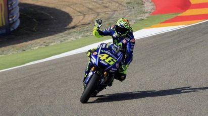 MotoGp Aragon, Valentino Rossi (Ansa)