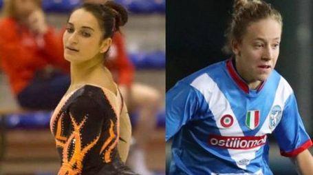 La ginnasta Arianna Rocca e la calciatrice Elisa Mele