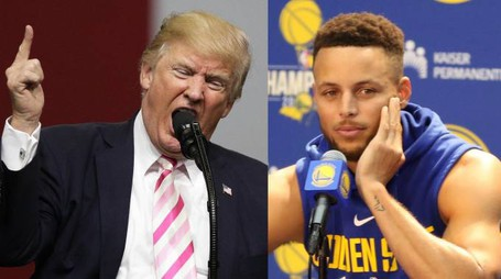Donald Trump e Stephen Curry (Ansa)