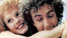 Francesco Nuti in una scena di «Madonna, che silenzio c'è stasera», uno dei  tanti film ambientati a Prato. La pellicola è datata 1982. A dirigerla il regista Maurizio Ponzi