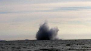 Terracina il momento della caduta dell'Eurofighter (ansa)