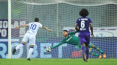 Sportiello para il rigore a Gomez (La Presse)