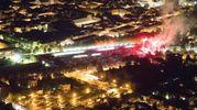 Spettacolare vista dall'alto sul concerto