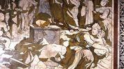 Domenico Beccafumi, Storie di Mosè sul Sinai, particolare. Siena, Cattedrale, Pavimento