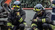 I vigili del fuoco a Lastra a Signa (Fotocronache Germogli)
