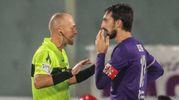 Fiorentina-Atalanta, Astori protesta con Pairetto (Germogli)