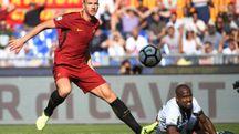 Roma, Dzeko in campo contro l'Udinese (Afp)