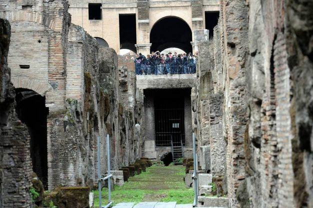Una veduta interna del Colosseo (Ansa)