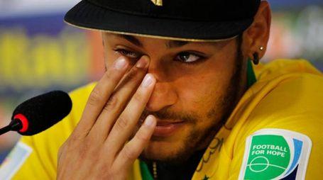 Le lacrime di Neymar (AP)