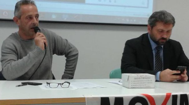 Giacomo Sardi e Massimo Artini del Movimento 5 Stelle