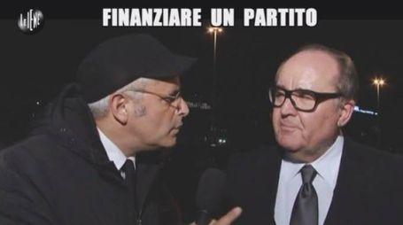 Germano Ercoli intervistato da Enrico Lucci de «Le Iene» (foto tratta dal video della trasmissione)