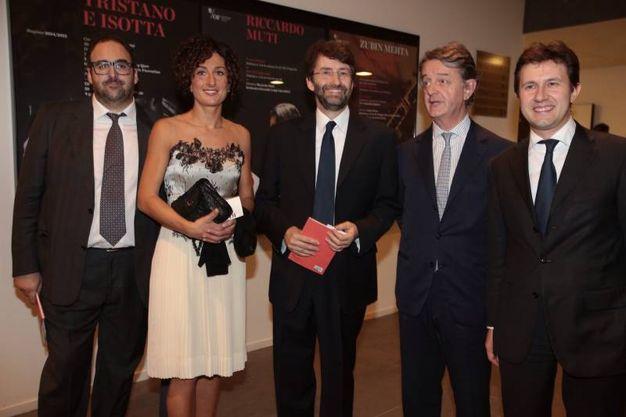 Salvatore Nastasi, Agnese Renzi, Dario Franceschini , Francesco Bianchi e Dario Nardella (foto Gianluca Moggi/ New Press Photo)