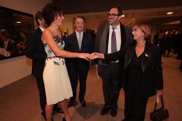 Agnese Renzi saluta la signora Muti (foto Gianluca Moggi/ New Press Photo)