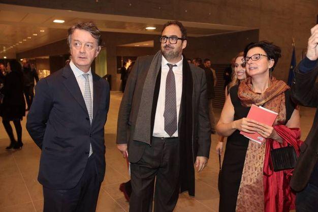 Il sovrintendente Francesco Bianchi con il direttore generale dello spettacolo dal vivo del Mibac Salvatore Nastasi  (foto Gianluca Moggi/ New Press Photo)