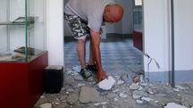 Un'abitazione danneggiata a Casola Lunigiana dal terremoto del giugno 2013
