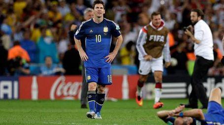 La delusione stampata sul volto di Messi (Ap)