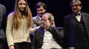 Francesco Nuti con la figlia Ginevra