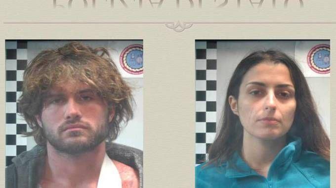Nella foto distribuita dalla Polizia, Alexander Boettcher e Martina Levato (Ansa)