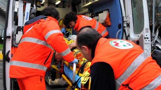 Sul posto sono intervenuti i soccorritori del 118