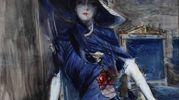 La divina in blu, 1905 ca, acquerello su carta