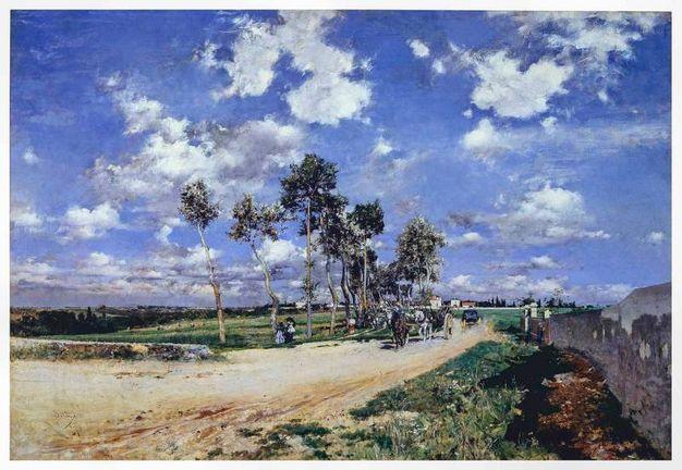 La Grand Rue à Combes-la-Ville, 1873, olio su tela