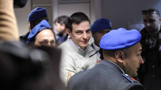 Luca Varani al processo d'appello (LAPRESSE)