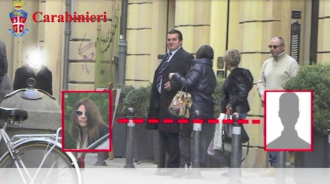 Un'immagine della registrazione audio della consulente Tattini