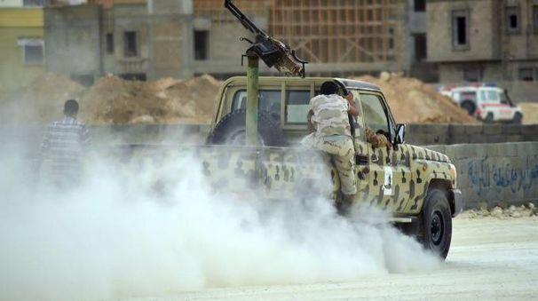 Combattimenti in Libia (Ansa)