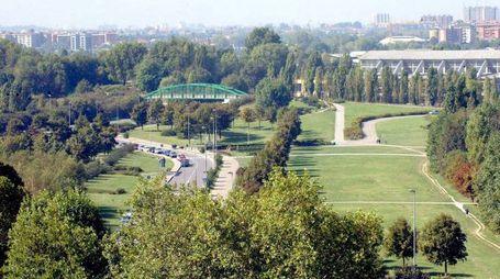 Il Parco Nord dall'alto