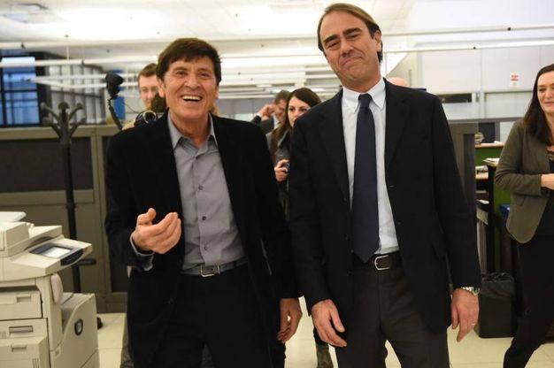 Gianni Morandi e Andrea Cangini