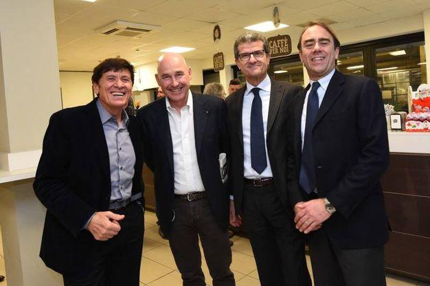Con Andrea Riffeser Monti, Enzo Mengoli e Andrea Cangini