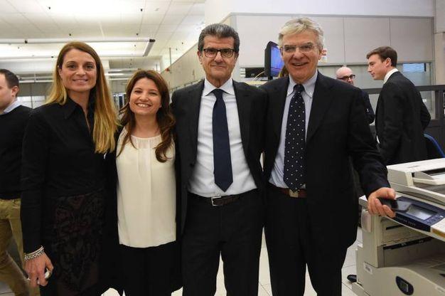 Francesca Caselli, Giulia Baisi, Enzo Mengoli e Luigi Raffa di Banca di Bologna