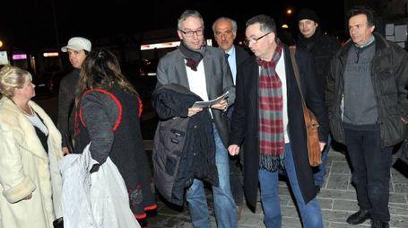 L'arrivo di Luca Ceriscioli a Civitanova (foto Vives)