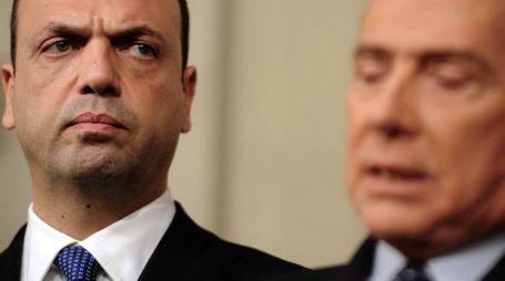 Angelino Alfano e Silvio Berlusconi (ImagoE)