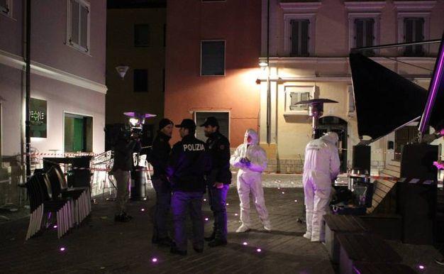 La scena dell'omicidio