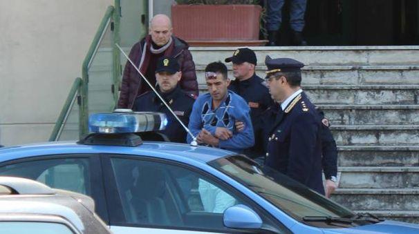 L'arresto del marocchino per l'omicidio Raggi (Pianetafoto)