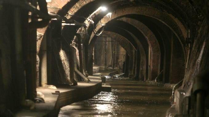 Il canale sotterraneo del torrente Aposa (FotoSchicchi)