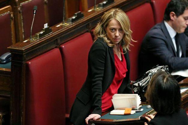 Giorgia Meloni in Parlamento (Ansa)