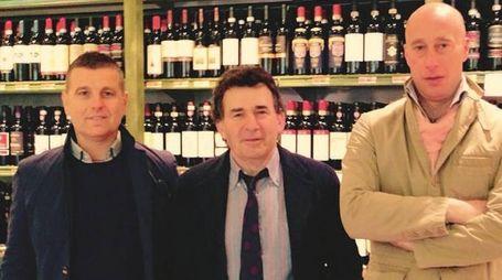 Da sinistra, Massimiliano Merildi, Mauro Matteini e Daniele Melani della società Universo