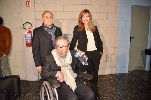 Francesco Nuti con Giuliana De Sio e Federico Berti (foto Attalmi)