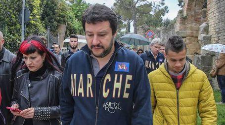Fano,Matteo Salvini