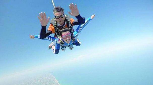 Alessia Polita in paracadute