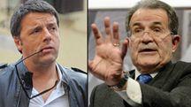 Combo tra Renzi e Prodi (Ansa)